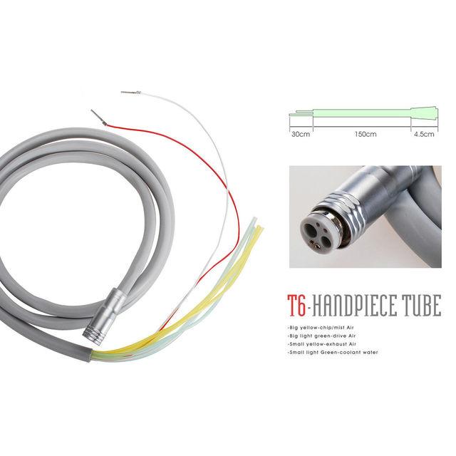 Dental 6 Hole Tubing Tube Silicone Hose for High Speed Fiber Optic LED Handpiece