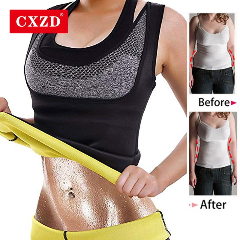 CXZD Women Body Shaper Tummy Fat Burner Sweat Tank Top Weight Loss Workout Shapewear Neoprene Sauna Waist Corset