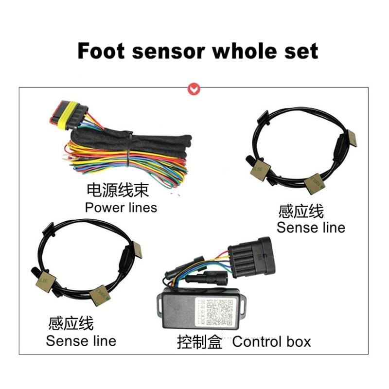 Foot sensor to open close trunk for Power liftgate Electric tailgate lift kit Car kick sensor