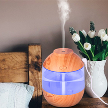 700ML USB air Humidifier Wood Grain Aroma Diffuser with LED Light Ultrasonic Cool Mist Maker Fogger for Home Car Water Difusor mini cup air humidifier ultrasonic cool mist aroma diffuser with color led light for office car umidificador mist maker fogger