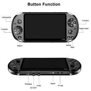 Image 5 - X12 Gioco Video Giochi Palmare Console di Gioco per PSP Retrò Doppia Rocker Joystick TV a Schermo 5.1 inch Giocatore del Gioco per SFC/GBA/NES/Bin