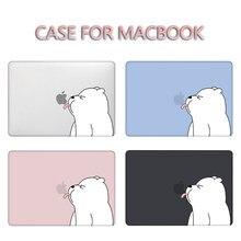 Mtt 2020 caso para macbook pro ar 11 12 13 15 16 retina com barra de toque bonito dos desenhos animados urso capa luva do portátil a2251 a2179 a2337