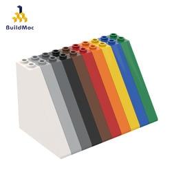 BuildMOC Compatible Assembles Particles  30249 1x6x5 slope brick Building Blocks Parts DIY LOGO Educational Tech Parts Toys