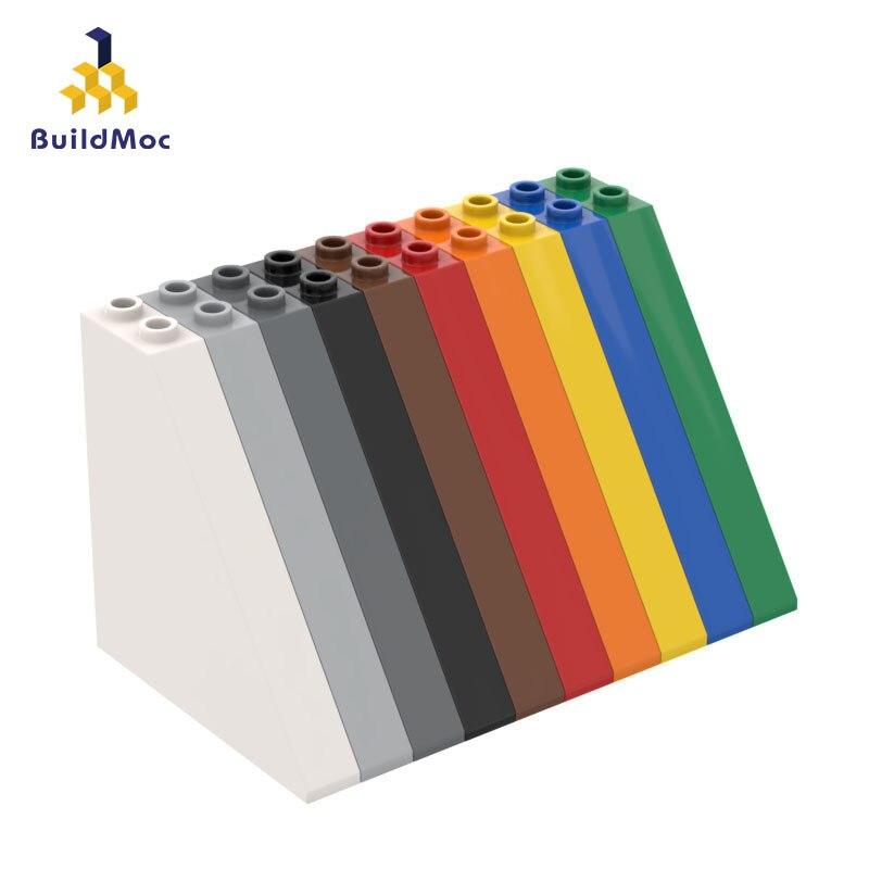 Construcdmoc Compatible pour lego 30249 1x6x5 pente brique blocs de construction pièces logo bricolage éducatifs créatifs cadeaux jouets