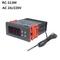 인큐베이터 실험실을위한 RC-113M AC 220V 2A PID 디지털 서모 스탯 레귤레이터 Termostato 온도 컨트롤러