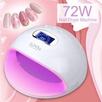 Mini UV LED Nail Dryers 72W SUN5s Light Nail Dryer Machine Gel Polish Nail for home Use Nail Art Nail Tools