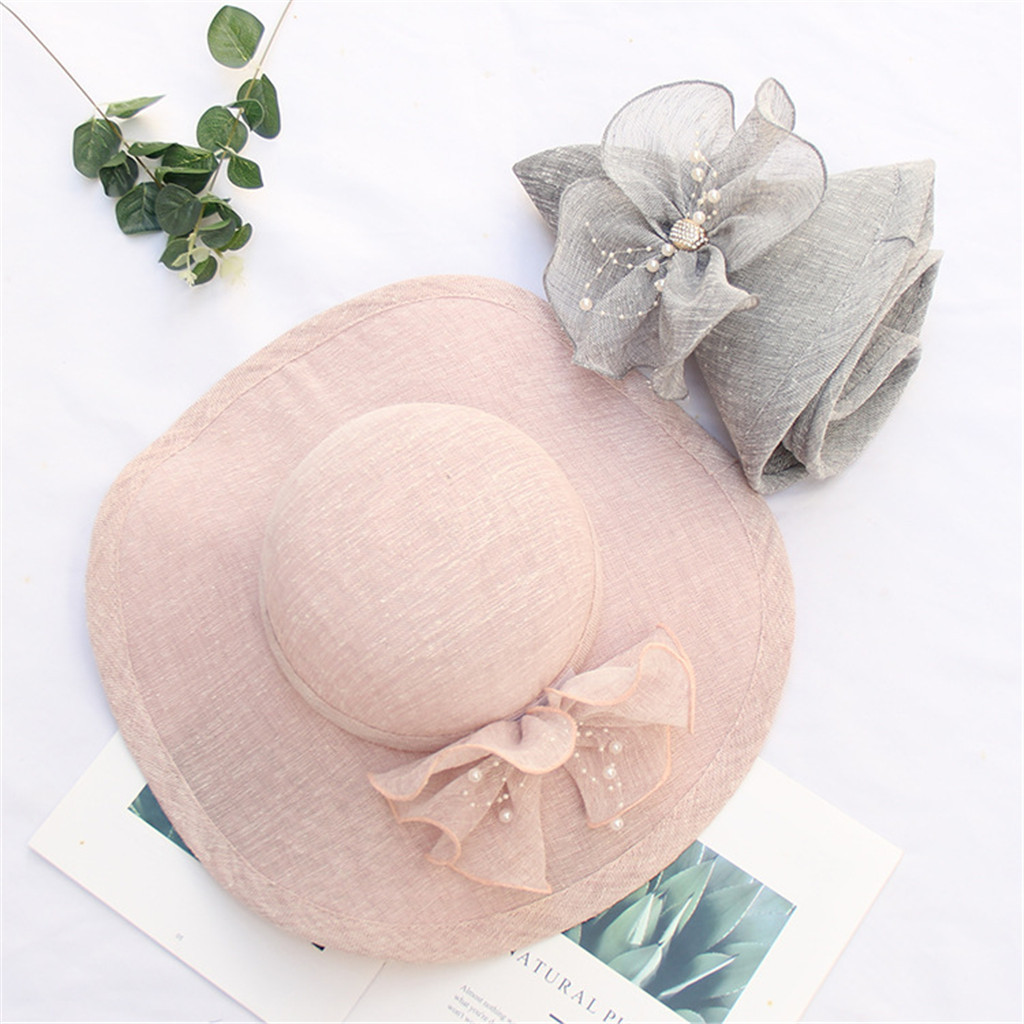 LFLING Boater Hat Straw Hat Flower Boater Hat Spring Hat Summer Hat Wedding Hat Bridal Hat Flower Fascinator Tea Party Hat