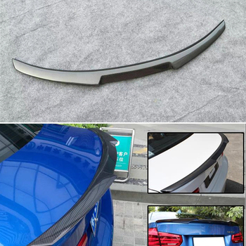 Use For BMW 3 Series F30 Spoiler 2013--2018 Year Glossy Real Carbon Fiber Rear Wing M4 Style Sport Accessories Body Kit image