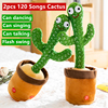 Children 2/5pcs Dancing Cactus Plush Swing Electric Toy 120 Songs and Dance Cute Tacking Cactus Early Education Toys Kids Gift