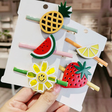Fashion  fresh Creativity Vigorous Girl Fruit hairpin Korean Sweet One-word clip Hairpin