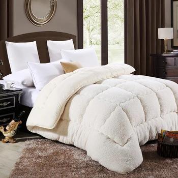 VESCOVO aksamitna pocieszyciel zagęścić ciepłe kołdry Australia wielbłąd kołdra z wełny królowej king size zima pocieszyciel tanie i dobre opinie Camel wool quilt