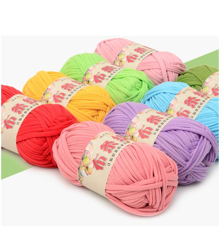 5 Pieces 500G Strip Thread Hook Handmade Bag Line Hand-Woven Cushion Line Carpet Line DIY Woven Coarse Yarn Crochet Tutorial