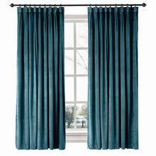 Birkin Goblet Velvet Curtain Window Drapery, Size Liner Custom Solid 36 Colors (1 Panel) For Track Traverse Rod Livingroom Drape