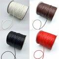Вощеный хлопковый шнур 0,5 мм 0,8 мм 1 мм 1,5 мм 2 мм, вощеная нить веревка шнур для ожерелья, веревка для изготовления украшений