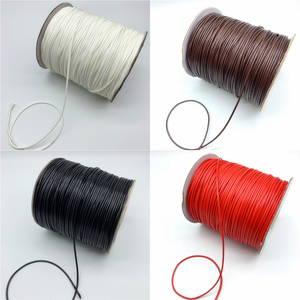 0.5mm 0.8mm 1mm 1.5mm 2mm Waxed Cotton Cord Rope Waxed Thread Cord String Strap Necklace Rope For Jewelry Making