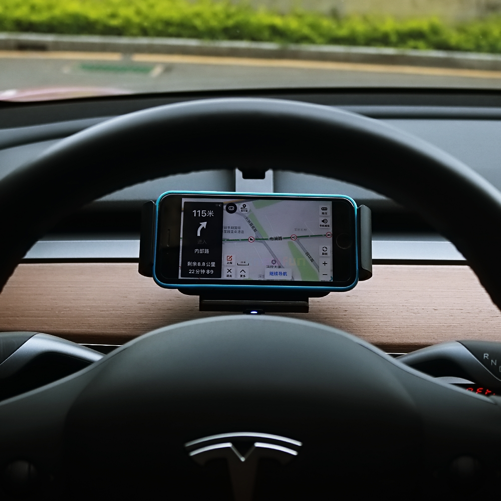 Fast Qi 15W Automatic Mobile Phone Wireless Charger Car Holder Infrared IR Auto Charging Mount Kit for Samsung Tesla Model 3 Y S