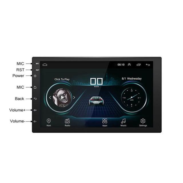 Android 8.1 voiture stéréo Gps Navigation lecteur Radio Double Din Wifi 7 pouces avec 5 Points écran tactile capacitif