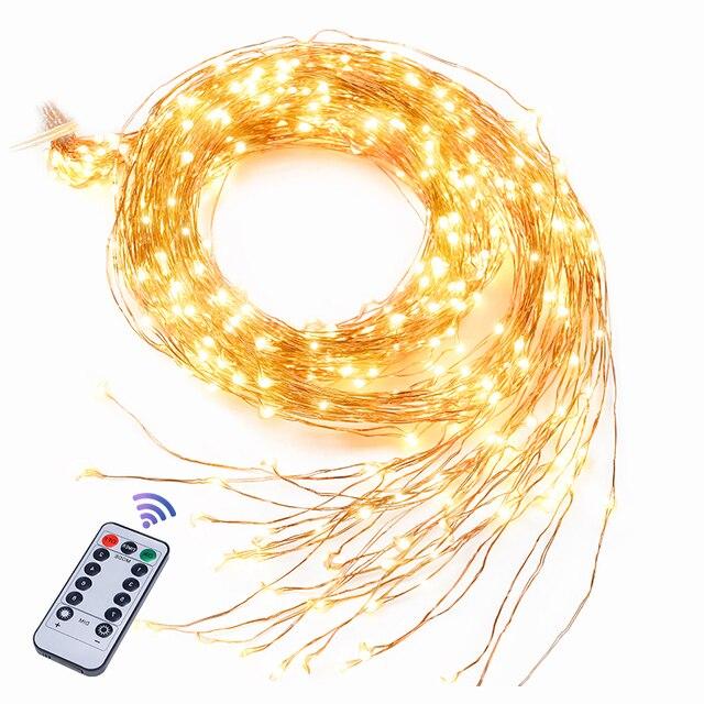 最長 2 メートル/3 メートル 900 ledメートルストリングバインズ光支店ライトledストリングライト装飾クリスマスウェディングパーティー