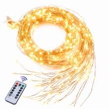 Самая длинная светодиодная гирлянда 2 м/3 м, 900 светодиодов, светильник в стиле виноной лозы, ветка, сказочные огни, украшение на Хэллоуин, Рождество, свадьбу, вечеринку