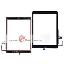 10 adet/grup iPad 9.7 Için (2018 Sürümü) 6 6th Gen A1893 A1954 dokunmatik ekran digitizer Cam Ev Düğmesi Ile