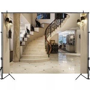 Image 4 - Laeacco Luxury Palace Spiralบันไดเสาตกแต่งภายในการถ่ายภาพพื้นหลังภาพครอบครัวฉากหลังสำหรับPhoto Studio