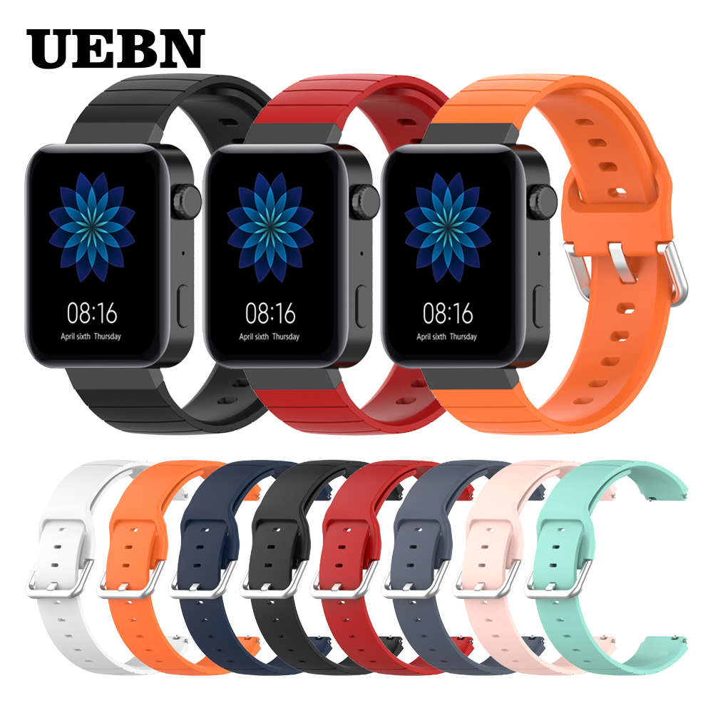 UEBN Silicone Band For Xiaomi Smart Watch Strap WristBand For Miwatch Replaceable Accessories Bracelet 18mm Watchbands