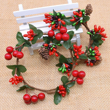 Wreath-Ornament Artificial-Berry Christmas-Wreath Flower Hanging-Decoration Wedding-Party