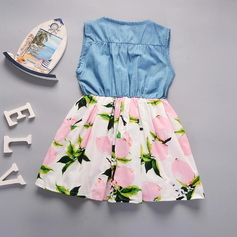 H3653ce14fca64c289f01fd7f3a7866e6u Lemon Girl Baptism New 2018 Sleeveless Kid Dresses Girls Party Princess Vestidos Nina 6 7 Year Cowboy Dress