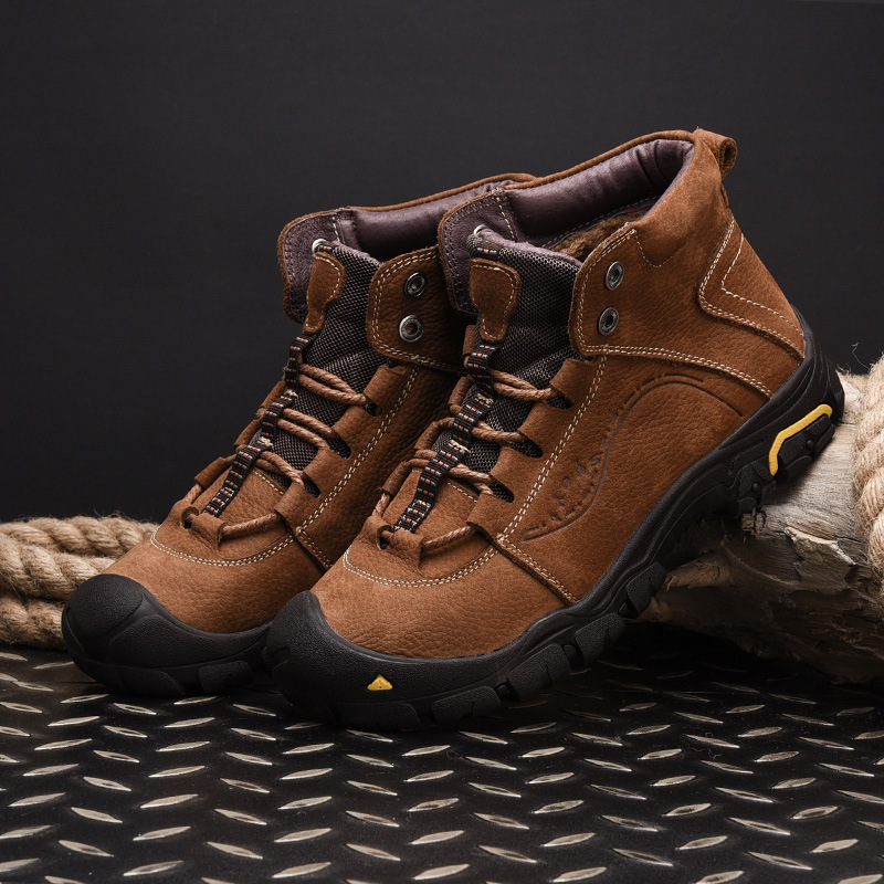 high top sport hiking boots outdoor men hiking shoes genuine leather waterproof climbing walking shoes hiking sneakers men boots|Hiking Shoes| |  - title=