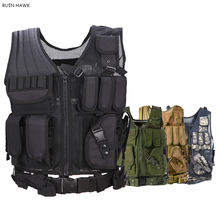 цена на Tactical Molle Vest Army Combat Armed Vest Military Gear Outdoor Airsoft Paintball Sport Protective Body Armor