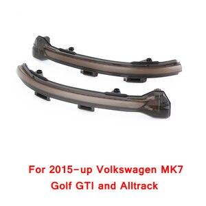 Image 3 - 2 قطعة ل VW Golf MK7 7.5 7 GTI R GTD ديناميكية الوامض LED بدوره إشارة ل Volkswagen Rline sportvan توران الجانب مرآة ضوء