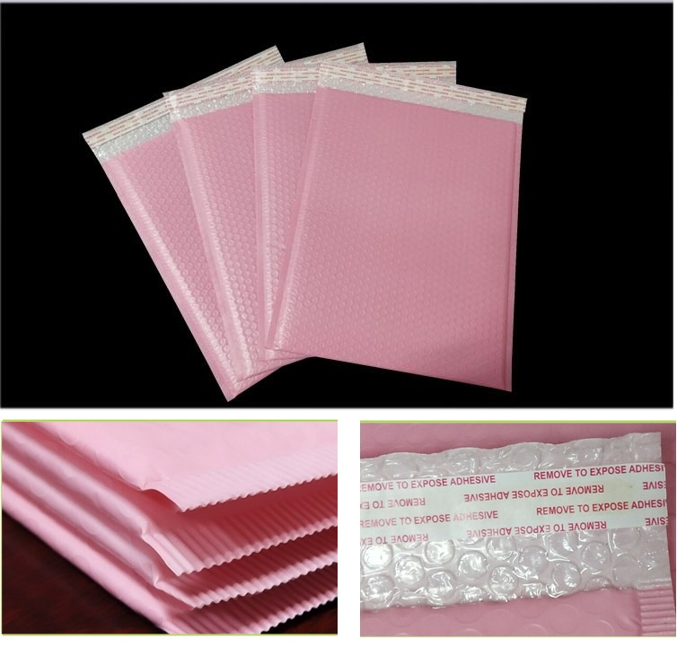 10pcs Pink Retail <font><b>large</b></font> <font><b>bubble</b></font> bag paper envelope padded <font><b>bubble</b></font> courier <font><b>bubble</b></font> bag,<font><b>bubble</b></font> <font><b>mailer</b></font> shipping bag image