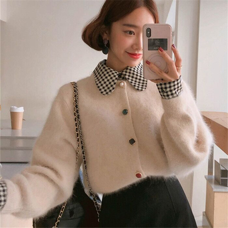 Alien Kitty Fashion Warm Solid Slender Mink-Velvet 2019 Winter Office Lady Knitted High Street Cardigans All-Match Soft Sweaters
