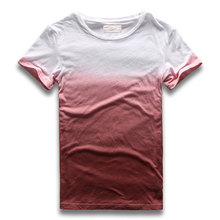 Novelty Drop Dye T Shirt for Men Crew Neck Short Sleeve Male Top Slim Fit Hip Hop Tees for Men  Clothing Gradient Tie Dye
