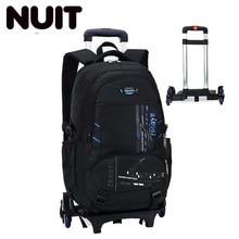 Student High Capacity Oxford Backpack Bagpack Rolling Luggage Children Backpacks Suitcases Wheel Duffle Back Pack School Bag все цены