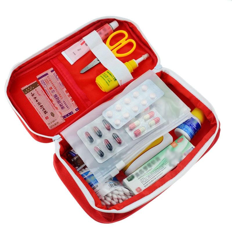 Outdoor Portable First Aid Kit Wild Seeking Life-saving Medical Kit Car Home Travel Emergency Kit Medical Kit First-aid Storage(China)