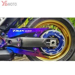 Image 4 - CNCรถจักรยานยนต์อุปกรณ์เสริมCHAIN GUARDเข็มขัดสำหรับYAMAHA TMAX530 TMAX 530 SX DX T MAX 2017 2018 2019