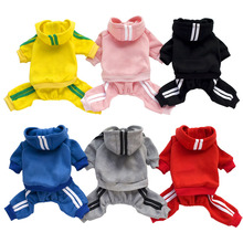 XS-XXL Pet Dog Clothes Warm Dog Jumpsuit Cat Puppy Pajamas Clothing Thicken Pet Hoodie Coat Outfits For Dogs Chihuahua Yorkshire цена
