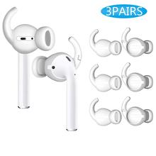 3 Pairs Soft Silicone Anti-lost In-Ear Earbuds Cover Eartips For Earpods Air-Pod