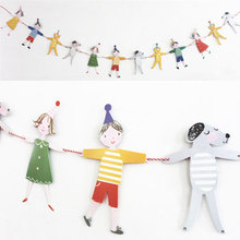 Cartoon Animal Birthday Decoration Banners Wedding Party Baby Shower Garland Bunting Flags Supplies