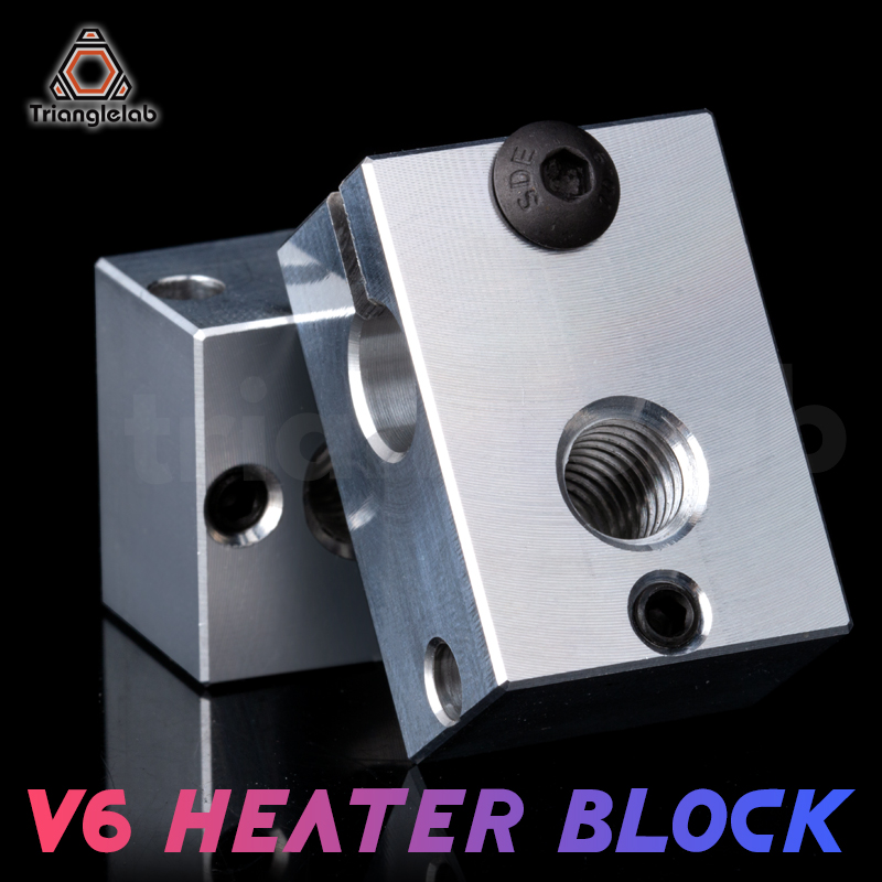 Trianglelab 3D printer parts V6 Heater Block for Sensor Cartridges for E3D HOTEND titan extruder for PT100 sensor for E3D HOTEND