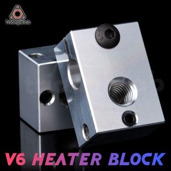 Trianglelab 3D printer parts V6 Heater Block for Sensor Cartridges E3D HOTEND titan extruder PT100 sensor - discount item  5% OFF Office Electronics