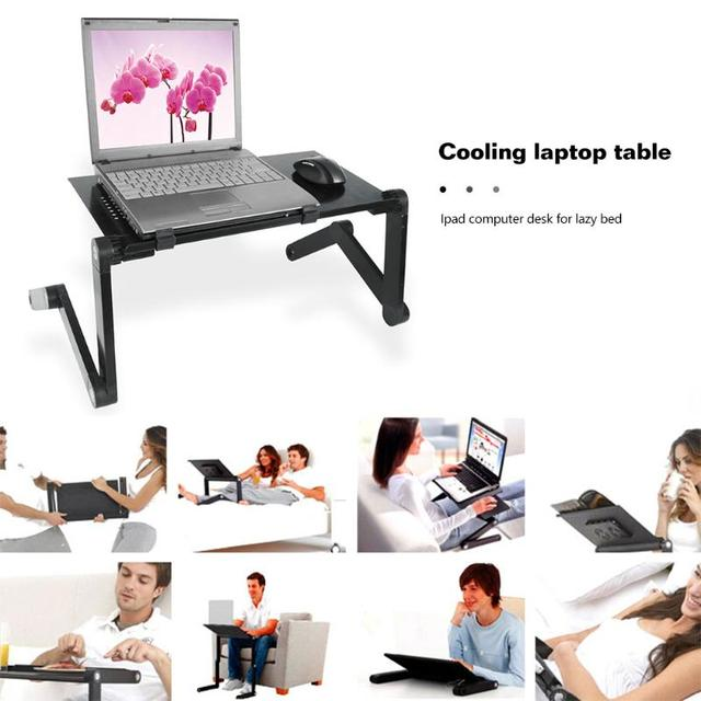 New Cooling Laptop Computer Table Bed Aluminum Alloy Foldable Computer Desk iPad Desk Lazy Aluminum Folding Table Dropshipping