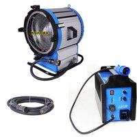 90~130V Daylight Compact 2500 HMI 2500W Fresnel Light + 2.5/4KW Ballast + Cable for Studio Film Shooting Lighting