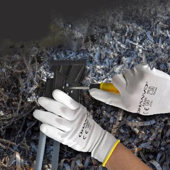 10 par PU nitrylowe rękawice robocze z powłoką ochronną rękawice powlekane palmami mechaniczne rękawice robocze posiadają certyfikat CE EN388 tanie i dobre opinie LPRED latex NONE CN (pochodzenie) ST4004