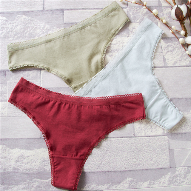 Women Underwear Lingerie Sexy cotton Panties for lady String Thongs Solid Seamless G-String Briefs Panties Panty Intimates 1