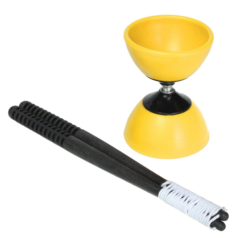 Big Bowl Diabolo + Plastic Sticks - Chinese YoYo Juggling Toy Gift