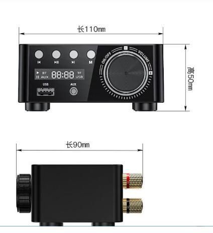 NEUE 50W * 2 Mini Klasse D Stereo Bluetooth 5,0 TPA3116 Digital Power Verstärker TF 3,5mm USB Eingang hifi Audio Hause AMP Für Mobile