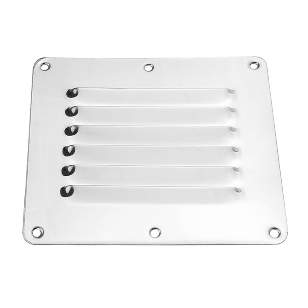 Square Air Vent Louver Grille Cover Adjustable Exhaust Vent Stainless Steel