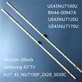 Светодиодная лента для подсветки (2) для Samsung 43NU7100 UE43NU7100 UN43NU7100 UE43NU7100U AOT_43_NU7100F UE43NU7120U UE43NU7170U BN96-45954A